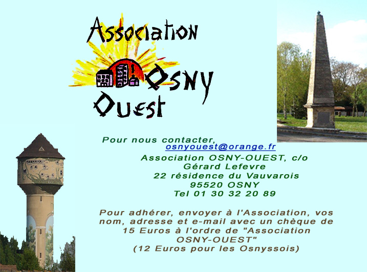 Contacts de l'association Osny ouest
